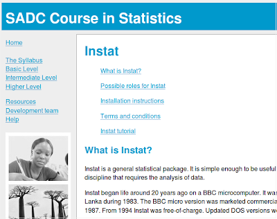 http://www.reading.ac.uk/ssc/resource-packs/sadc-dvd/Resources/Instat/Instat.htm